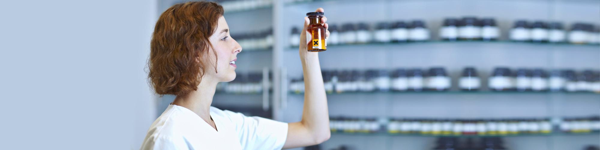 pharmacist checking