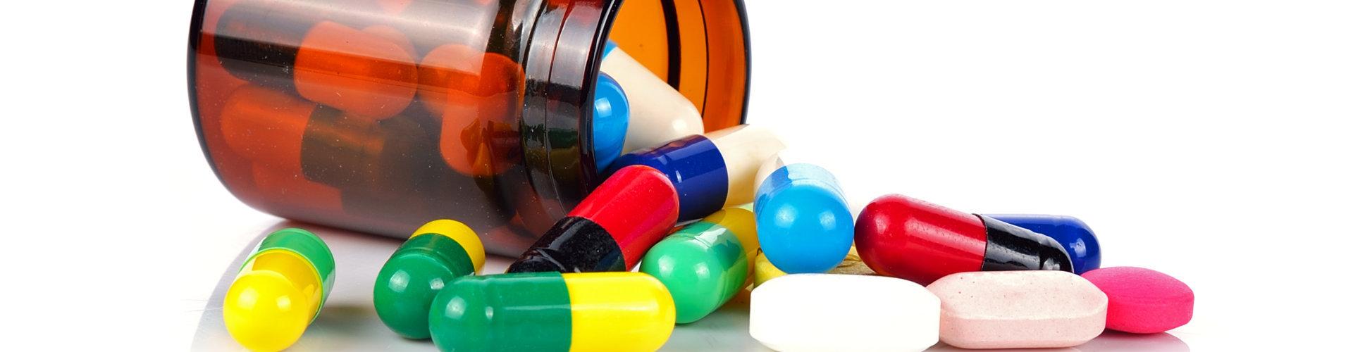 medicines on a bottle